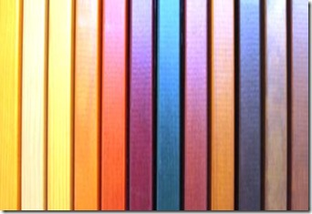 Colour staining picture framing