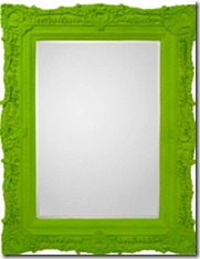 Flocked mirror frame Worldly wicked and wise