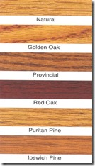 Stained wood picture framing